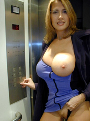 Amazing big breasted mature lady almost..