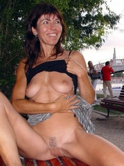 Perky slender wife nude outdoor,..