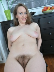 The swollen hairy mature pussy, that..