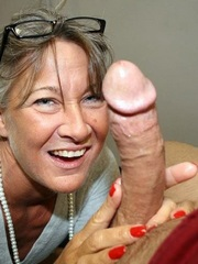 Cheerful mature pervert touches, jerk..