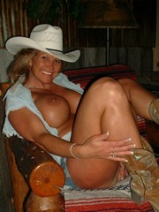 Huge tits mature cowgirl awaits for big..