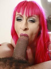 Redhead mature slut and her lover on..
