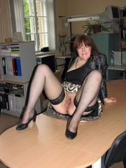 Naked, thick business woman waiting for..