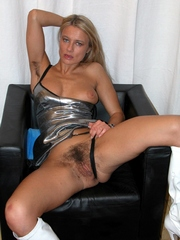 Passionate middle-aged woman show her..