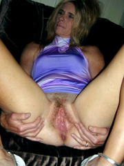 Opened wide pussy of mature aged wives
