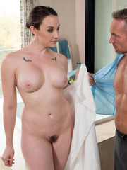 Busty MILF Chanel Preston services big..