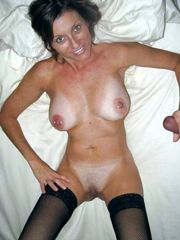Busty mature woman takes cock in this..