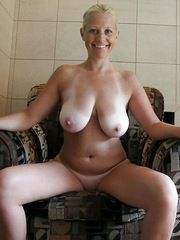 Bald Busty mom with big tits