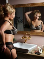 Glamorous lady in a chic lingerie