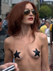 Key West festival, naked exhibitionists