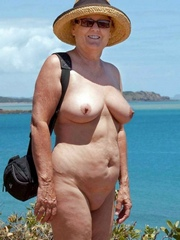 Great granny absolutely naked at the..