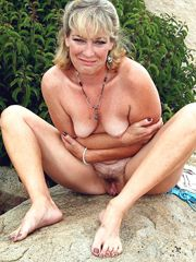 Mature ladies without panties, hot..